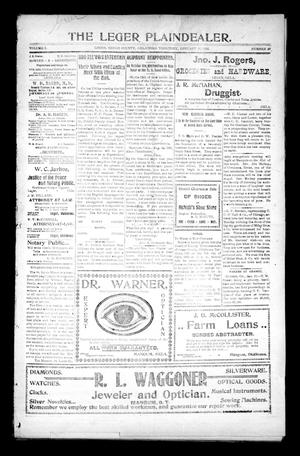 Primary view of object titled 'The Leger Plaindealer. (Leger, Okla. Terr.), Vol. 5, No. 29, Ed. 1 Thursday, January 16, 1902'.