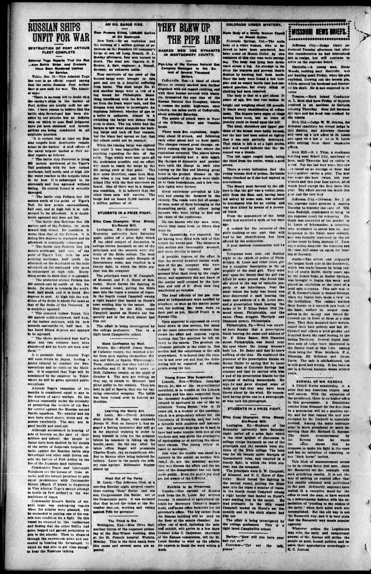 The Curtis Courier. (Curtis, Okla.), Vol. 5, No. 2, Ed. 1 Thursday, December 29, 1904                                                                                                      [Sequence #]: 2 of 8