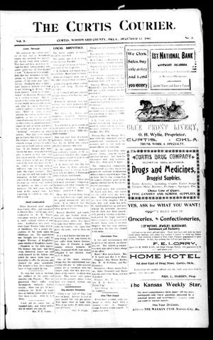 Primary view of The Curtis Courier. (Curtis, Okla.), Vol. 8, No. 3, Ed. 1 Thursday, December 12, 1907