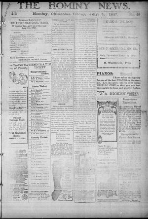 Primary view of object titled 'The Hominy News. (Hominy, Okla.), Vol. 2, No. 49, Ed. 1 Friday, July 5, 1907'.
