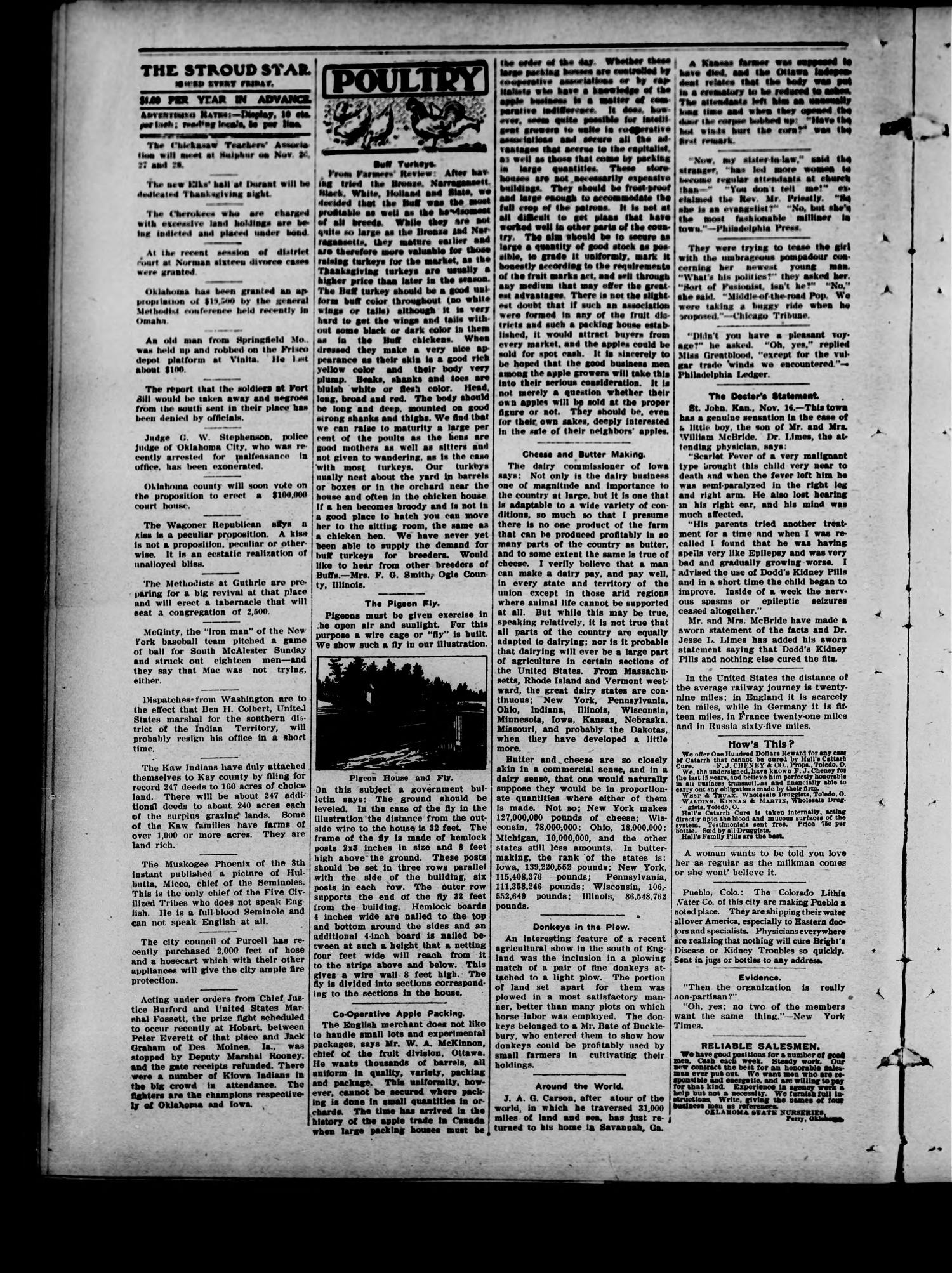 The Stroud Star. (Stroud, Okla.), Vol. 6, No. 38, Ed. 1 Friday, November 20, 1903                                                                                                      [Sequence #]: 2 of 12