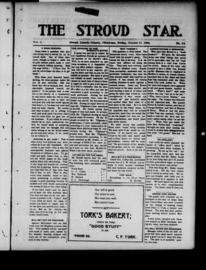 Primary view of object titled 'The Stroud Star. (Stroud, Okla.), Vol. 5, No. 33, Ed. 1 Friday, October 17, 1902'.