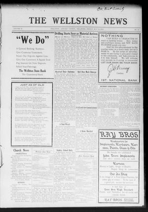 Primary view of object titled 'The Wellston News (Wellston, Okla.), Vol. 21, No. 19, Ed. 1 Friday, May 10, 1912'.