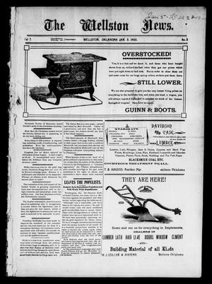 Primary view of object titled 'The Wellston News. (Wellston, Okla.), Vol. 7, No. 3, Ed. 1 Friday, January 5, 1900'.