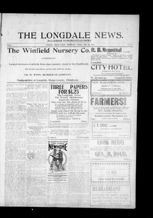 Primary view of object titled 'The Longdale News. (Longdale, Okla.), Vol. 9, No. 8, Ed. 1 Friday, July 16, 1909'.