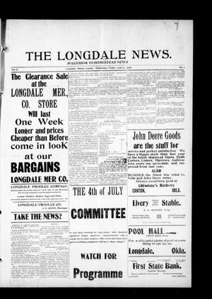 Primary view of object titled 'The Longdale News. (Longdale, Okla.), Vol. 8, No. 2, Ed. 1 Friday, June 5, 1908'.