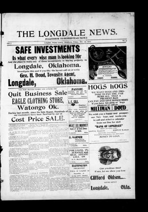 Primary view of object titled 'The Longdale News. (Longdale, Okla.), Vol. 7, No. 31, Ed. 1 Friday, December 27, 1907'.