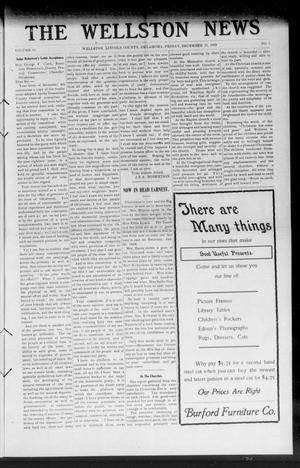 Primary view of object titled 'The Wellston News (Wellston, Okla.), Vol. 19, No. 1, Ed. 1 Friday, December 31, 1909'.