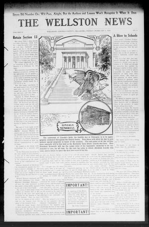 Primary view of object titled 'The Wellston News (Wellston, Okla.), Vol. 18, No. 6, Ed. 1 Friday, February 5, 1909'.