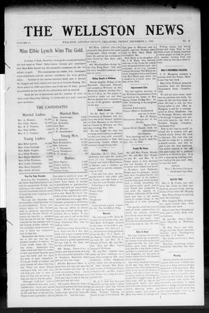 Primary view of object titled 'The Wellston News (Wellston, Okla.), Vol. 18, No. 49, Ed. 1 Friday, December 3, 1909'.