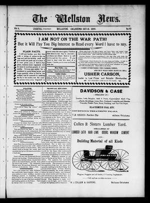 Primary view of object titled 'The Wellston News. (Wellston, Okla.), Vol. 6, No. 43, Ed. 1 Friday, October 13, 1899'.