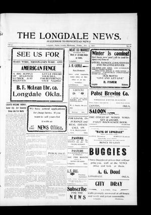 Primary view of object titled 'The Longdale News. (Longdale, Okla.), Vol. 7, No. 19, Ed. 1 Friday, October 4, 1907'.