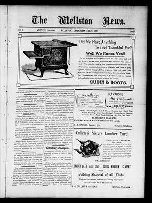 Primary view of object titled 'The Wellston News. (Wellston, Okla.), Vol. 6, No. 51, Ed. 1 Friday, December 8, 1899'.