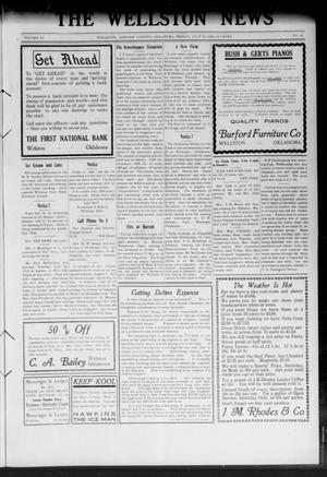 Primary view of object titled 'The Wellston News (Wellston, Okla.), Vol. 22, No. 30, Ed. 1 Friday, July 25, 1913'.