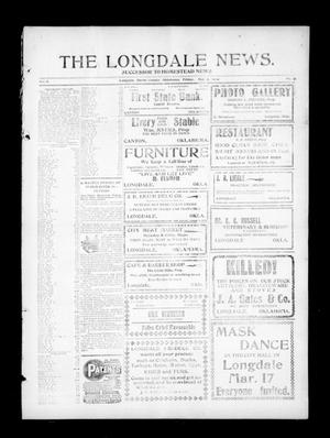 Primary view of object titled 'The Longdale News. (Longdale, Okla.), Vol. 8, No. 41, Ed. 1 Wednesday, March 3, 1909'.