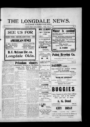 Primary view of object titled 'The Longdale News. (Longdale, Okla.), Vol. 7, No. 20, Ed. 1 Friday, October 11, 1907'.