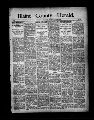 Primary view of object titled 'Blaine County Herald. (Watonga, Okla.), Vol. 2, No. 15, Ed. 1 Thursday, June 4, 1896'.