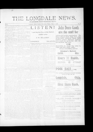Primary view of object titled 'The Longdale News. (Longdale, Okla.), Vol. 8, No. 16, Ed. 1 Friday, September 11, 1908'.