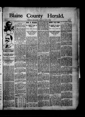 Primary view of Blaine County Herald. (Watonga, Okla.), Vol. 2, No. 29, Ed. 1 Thursday, September 10, 1896