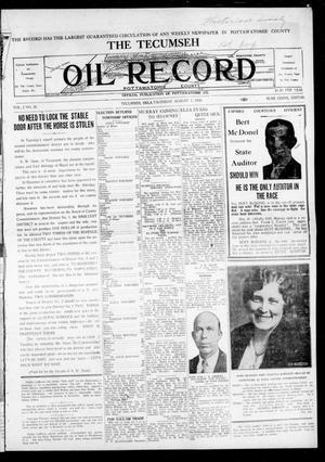 Primary view of The Tecumseh Oil Record (Tecumseh, Okla.), Vol. 2, No. 30, Ed. 1 Thursday, August 7, 1930