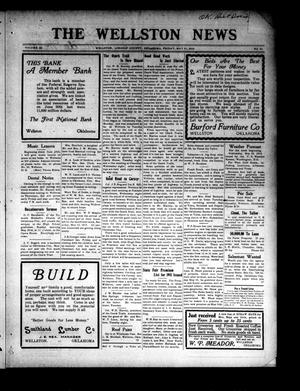 Primary view of The Wellston News (Wellston, Okla.), Vol. 24, No. 21, Ed. 1 Friday, May 21, 1915