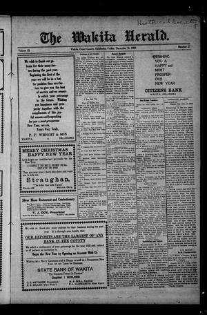 Primary view of The Wakita Herald. (Wakita, Okla.), Vol. 13, No. 27, Ed. 1 Friday, December 31, 1909