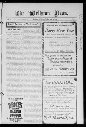 Primary view of The Wellston News. (Wellston, Okla.), Vol. 13, No. 3, Ed. 1 Friday, January 19, 1906