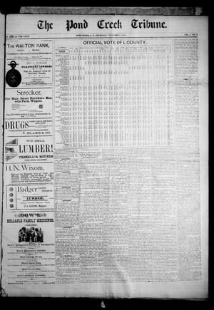 Primary view of object titled 'The Pond Creek Tribune. (Pond Creek, Okla. Terr.), Vol. 2, No. 13, Ed. 1 Thursday, December 6, 1894'.