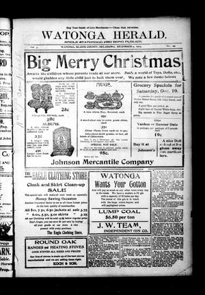 Primary view of object titled 'Watonga Herald. (Watonga, Okla.), Vol. 3, No. 29, Ed. 1 Friday, December 9, 1904'.