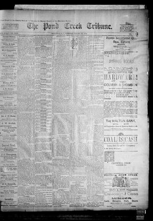 Primary view of object titled 'The Pond Creek Tribune. (Pond Creek, Okla. Terr.), Vol. 1, No. 20, Ed. 1 Thursday, January 25, 1894'.
