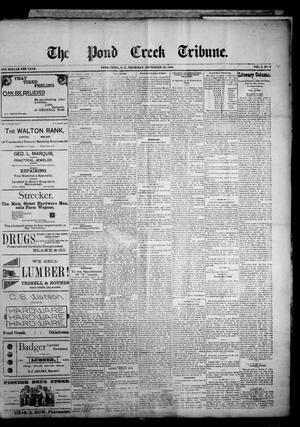 Primary view of object titled 'The Pond Creek Tribune. (Pond Creek, Okla. Terr.), Vol. 2, No. 2, Ed. 1 Thursday, September 20, 1894'.