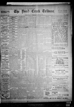 Primary view of object titled 'The Pond Creek Tribune. (Pond Creek, Okla. Terr.), Vol. 1, No. 15, Ed. 1 Thursday, December 21, 1893'.