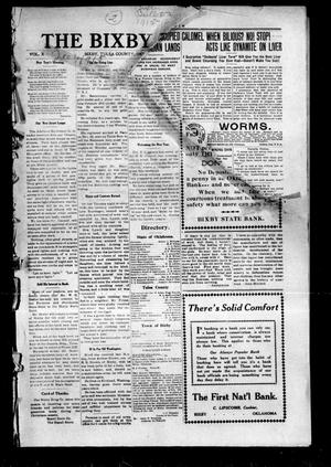 Primary view of object titled 'The Bixby Bulletin (Bixby, Okla.), Vol. 10, No. [44], Ed. 1 Friday, January 1, 1915'.