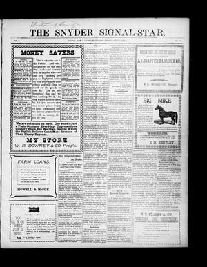 Primary view of object titled 'The Snyder Signal-Star. (Snyder, Okla.), Vol. 3, No. 12, Ed. 1 Friday, April 28, 1905'.