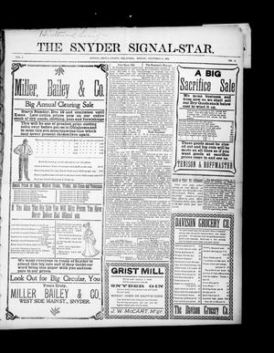 Primary view of object titled 'The Snyder Signal-Star. (Snyder, Okla.), Vol. 3, No. 2, Ed. 1 Friday, December 9, 1904'.