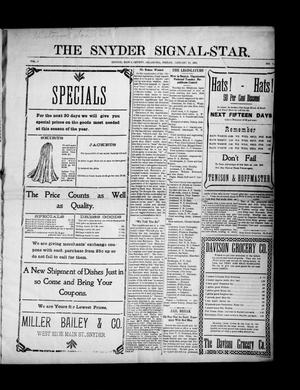 Primary view of object titled 'The Snyder Signal-Star. (Snyder, Okla.), Vol. 3, No. 7, Ed. 1 Friday, January 13, 1905'.