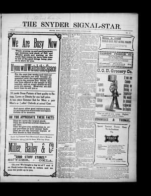 Primary view of object titled 'The Snyder Signal-Star. (Snyder, Okla.), Vol. 3, No. 39, Ed. 1 Friday, August 25, 1905'.
