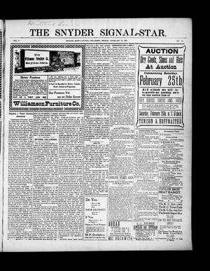 Primary view of object titled 'The Snyder Signal-Star. (Snyder, Okla.), Vol. 3, No. 13, Ed. 1 Friday, February 24, 1905'.