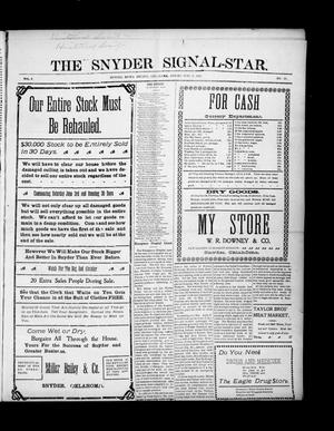Primary view of object titled 'The Snyder Signal-Star. (Snyder, Okla.), Vol. 3, No. 27, Ed. 1 Friday, June 2, 1905'.