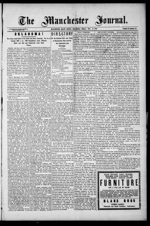 Primary view of object titled 'The Manchester Journal. (Manchester, Okla.), Vol. 15, No. 25, Ed. 1 Friday, November 22, 1907'.