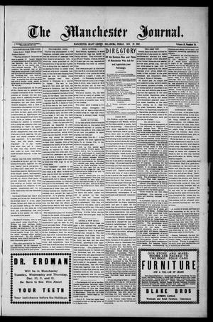 Primary view of object titled 'The Manchester Journal. (Manchester, Okla.), Vol. 15, No. 26, Ed. 1 Friday, November 29, 1907'.