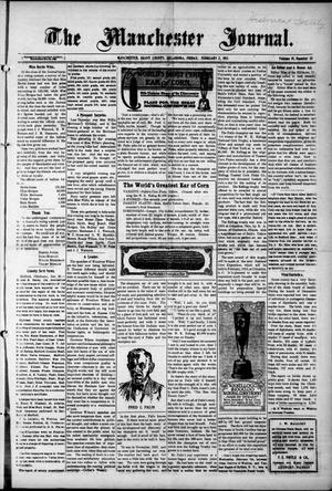 Primary view of object titled 'The Manchester Journal. (Manchester, Okla.), Vol. 19, No. 35, Ed. 1 Thursday, February 2, 1911'.