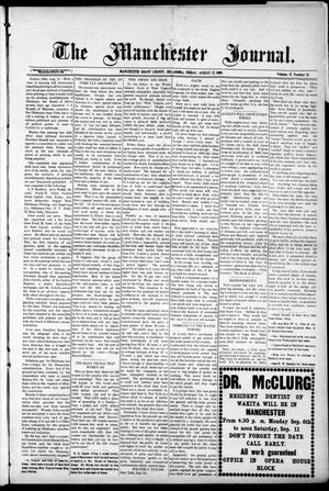 Primary view of object titled 'The Manchester Journal. (Manchester, Okla.), Vol. 17, No. 13, Ed. 1 Friday, August 27, 1909'.