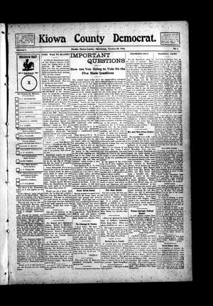 Primary view of object titled 'Kiowa County Democrat. (Snyder, Okla.), Vol. 4, No. 1, Ed. 1 Thursday, October 29, 1908'.