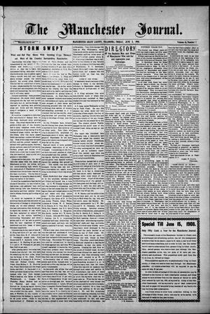 Primary view of object titled 'The Manchester Journal. (Manchester, Okla.), Vol. 16, No. 1, Ed. 1 Friday, June 5, 1908'.
