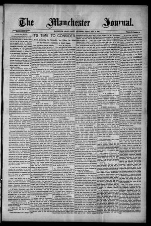 Primary view of object titled 'The Manchester Journal. (Manchester, Okla.), Vol. 15, No. 14, Ed. 1 Friday, September 6, 1907'.