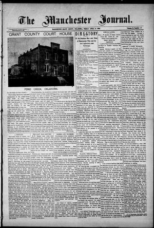 Primary view of object titled 'The Manchester Journal. (Manchester, Okla.), Vol. 15, No. 47, Ed. 1 Friday, April 24, 1908'.