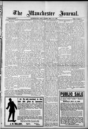 Primary view of object titled 'The Manchester Journal. (Manchester, Okla.), Vol. 17, No. 24, Ed. 1 Friday, November 19, 1909'.