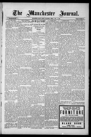 Primary view of object titled 'The Manchester Journal. (Manchester, Okla.), Vol. 15, No. 23, Ed. 1 Friday, November 8, 1907'.