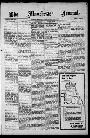 Primary view of object titled 'The Manchester Journal. (Manchester, Okla.), Vol. 14, No. 43, Ed. 1 Friday, March 29, 1907'.